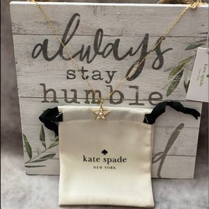 """Kate Spade NY """"Seeing Stars"""" Pave Pendant Necklace"""